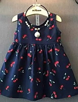 Cute Cherry Lace Halter Girl Dress