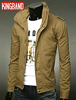 Men's Casual/Sport/Plus Sizes Pure Long Sleeve Regular Jacket (Cotton)KB6B12
