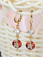 KuNiu Women's 18K Gold Plated  Elegant Pop Cubic Zirconia Earrings ER0236