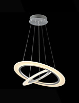 Acrylic LED Ceiling Pendant Lights Mini Chandelier Lighting 2 Rings AC 100 to 240V Lamps Fixtures