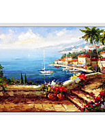 Oil Painting Modern Landscape , Canvas Material with Stretched Frame Ready To Hang SIZE:60*90CM.