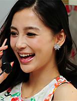 Shiny Crystal Snow Ear Stud(Silver)(1Pr)