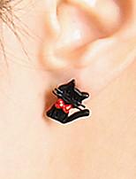 Korean Style Cat Stud Earrings