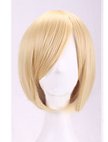 The New Cartoon Color Wig Prince Gold Fix Face  Short Straight Hair Wigs