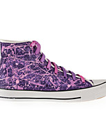 Hand-painted Shoes Canvas Flat Heel Comfort Fashion Sneakers/Athletic Shoes Outdoor/Athletic/Casual Purple