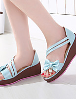 Women's Shoes Flat Heel Creepers Sandals Dress/Casual Blue/Pink/White