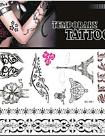 Tattoo Stickers Non Toxic/Pattern/Lower Back/Waterproof Others Adult/Teen Black Paper 1 17*16 Eiffel Tower
