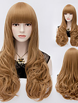 Kawaii Hot Spiral Wave Full Hair Party Wig Brown