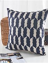 Black & White Pattern Cotton/Linen Decorative Pillow Cover