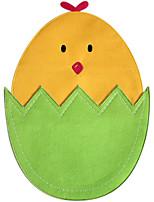la conception d'oeuf de pâques mignon petit napperon de poulet table de décoration napperon