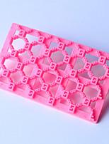 gofrado de silicona para hornear muere molde fondant decoración de la torta del molde