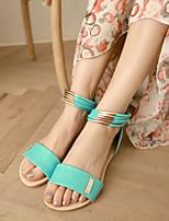 Women's Shoes  Flat Heel Open Toe Sandals Dress/Casual Black/Brown/Green
