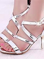 Women's Shoes Stiletto Heel Open Toe Sandals Dress Black/White/Silver