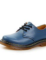 Men's Shoes Office & Career/Casual/Party & Evening Leather Oxfords Black/Blue/Green/Red