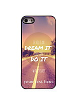 Personalized Gift Dream and Do Design Aluminum Hard Case for iPhone 4/4S