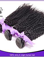 7A Indian Kinky Curly Hair Weaves 100% Virgin Human Hair Extensions 3pcs Lot Natural Black Color 1B#