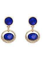 Women's Retro Classic Elegant Blue Zircon Stud Earrings HJ0048