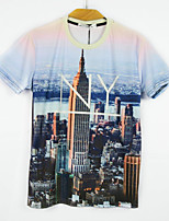 European Style TEE Digital Printing 3D T-shirt NY City Harajuku Sleeved T-shirt