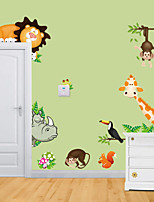 Wall Stickers Wall Decals , Animal Zoo PVC Wall Stickers