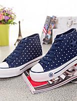 Zapatos de mujer - Tacón Plano - Creepers / Punta Redonda - Sneakers a la Moda - Oficina y Trabajo / Casual - Tela - Azul