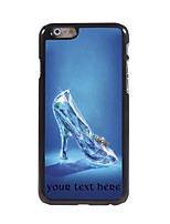 Personalized Gift Glass Slippers Design Aluminum Hard Case for iPhone 6