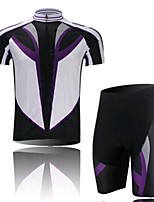 Purple Black Short Sleeved Jersey Suit, Moisture Cycling Wear, Motor Function Material