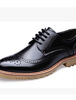 Men's Shoes Casual Leather Oxfords Black/Yellow/Red