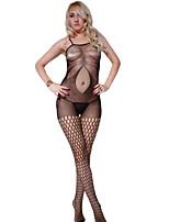 Women's Suspender Flower Pattern Fishnet Bodystockings Plus Size