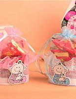 Pink and Blue Cartoon Baby Design Organza Candy Favor  Bag Set of 12