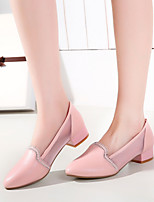 Women's Shoes Heel Ankle Strap/Pointed Toe Sandals Office & Career/Dress/Casual Blue/Pink/White