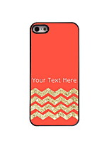 Personalized Gift Red and Golden Stripe Aluminum Hard Case for iPhone 5/5S