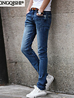 AOLONGQISHI® Men's Casual Pure Pant (Cotton/Denim) 6607