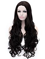La nouvelle couleur de bande dessinée perruque Bang incliné noir perruques de cheveux bouclés