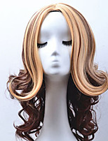 Hot Sale American Popular New Style Natural Wave Hair Wigs Synthetic Double Color Hair Wigs