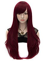 70cm Style Natural Straight Fashion Women Party Wigs Heat Resist Synhtetic Cosplay costume Wig Dark Red