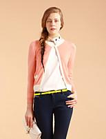 GOELIA Women's Cute/Work Micro-elastic Opaque Long Sleeve Cardigan (Acrylic/Wool Blends)