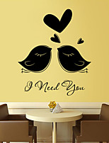 Wall Stickers Wall Decals Style Love Birds PVC Wall Stickers