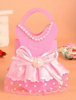 Pink and Red Wedding Candy Box Wedding Dress Design Favor Bag  Set of 12