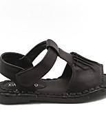 Girls' Shoes Casual Round Toe Flats Black/Khaki