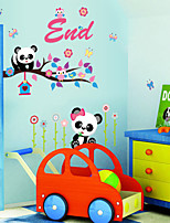 Wall Stickers Wall Decals,Lovely Panda PVC Wall Stickers