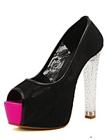 Women's Shoes    Cone Heel Heels/Peep Toe Pumps/Heels Party & Evening/Casual Black/White