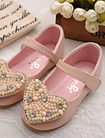Girls' Shoes Casual Comfort Round Toe Leather Flats Shoes with Magic Tape More Colors available
