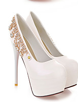 Women's Shoes  Stiletto Heel Round Toe Pumps/Heels Outdoor/Office & Career/Casual Black/Green/White