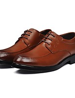 Men's Shoes Office Leather Oxfords Black/Brown