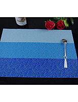 20pcs Wholesale  PVC High Quality Stripe Dining Coasters Placemats 18*12inch