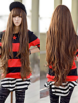 Fashion Natural Wave Lady Wigs Hair Brown Synthetic Hair Wigs 80CM