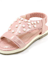Girls' Shoes Outdoor/Casual Round Toe Faux Leather Sandals Green/Pink/White
