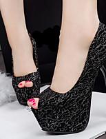 Women's Shoes Leatherette Stiletto Heel Heels/Peep Toe Pumps/Heels Casual Multi-color