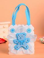 Blue Cute Bear Baby Shower  Wedding Favor Candy Bags Set of 12