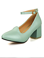 Women's Shoes Synthetic Low Heel Heels/Basic Pump Pumps/Heels Office & Career/Dress/Casual Blue/Pink/White/Beige